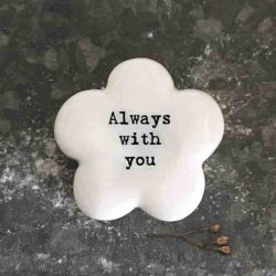 East of India 'Always With You' Porcelain Flower Token