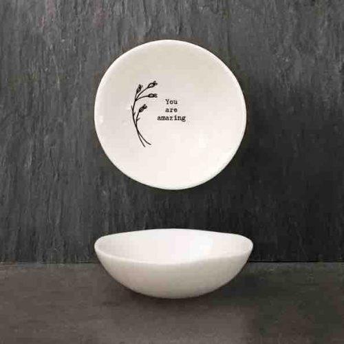 East of India 'Amazing' Small Porcelain Bowl