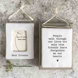 East of India 'Best Friends' Porcelain Hanging Frame