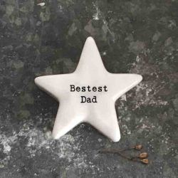 East of India 'Bestest Dad' Porcelain Star Token