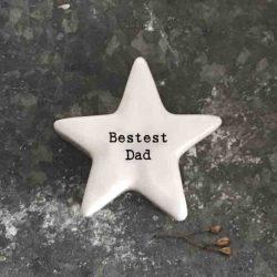 East of India 'Bestest Dad' Porcelain Star Token