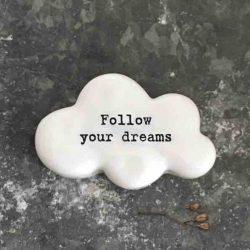 East of India 'Follow Your Dreams' Porcelain Cloud Token