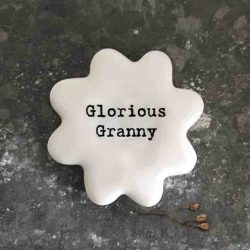 East of India 'Glorious Granny' Porcelain Flower Token