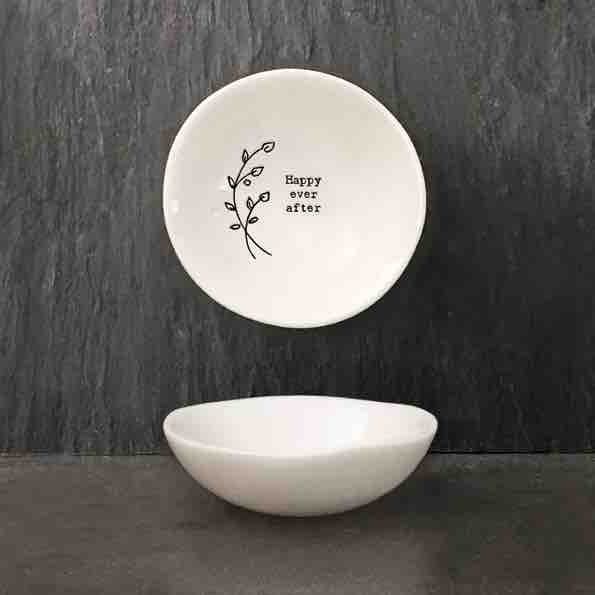 East of India 'Happy Ever After' Small Porcelain Bowl