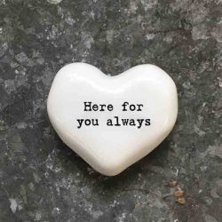 East of India 'Here For You Always' Porcelain Heart Token