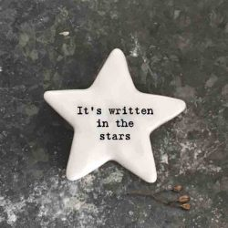 East of India 'It's Written In The Stars' Porcelain Star Token