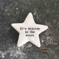 East of India 'It's Written In The Stars' Porcelain Star Token