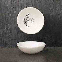 East of India 'Little and Loved' Small Porcelain Bowl