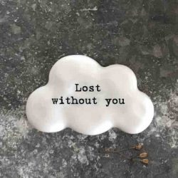 East of India 'Lost Without You' Porcelain Cloud Token