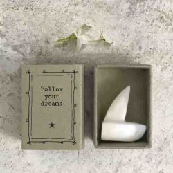 East of India Match Box - Follow Your Dreams