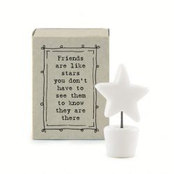 East of India Match Box - Friends Like Stars White