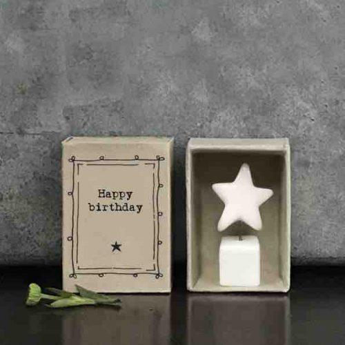 East of India Match Box - Happy Birthday