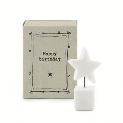East of India Match Box - Happy Birthday White