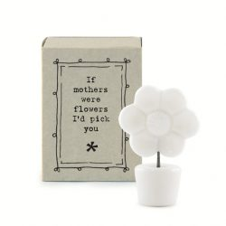 East of India Match Box - Mothers Were Flowers White