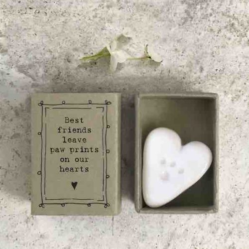 East of India Match Box - Paw Prints