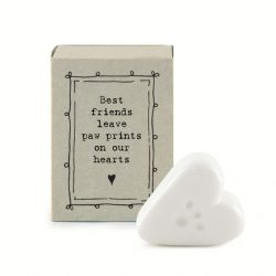 East of India Match Box - Paw Prints White