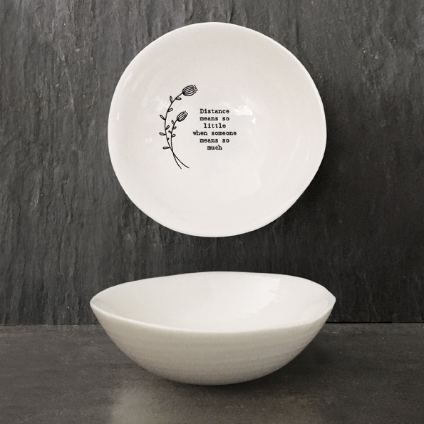 East of India Medium hedgerow bowl-Distance means
