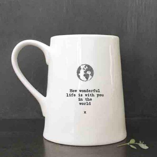 East of India Porcelain Mug - How Wonderful