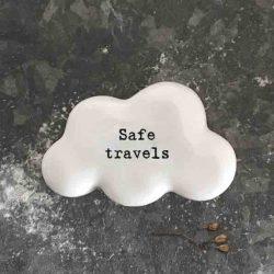 East of India 'Safe Travels' Porcelain Cloud Token