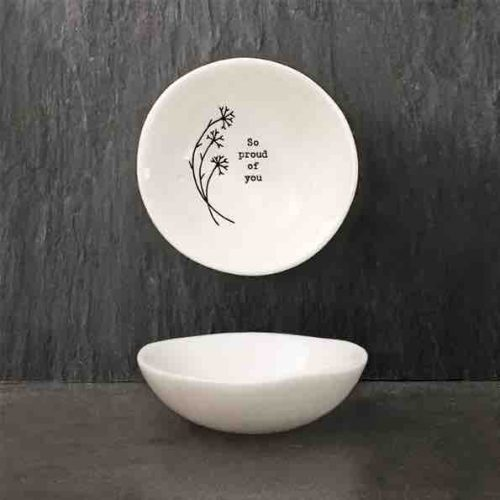 East of India 'So Proud' Small Porcelain Bowl