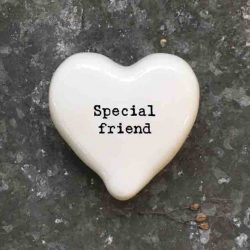 East of India 'Special Friend' Porcelain Heart Token