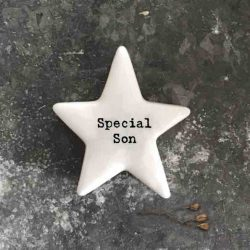 East of India 'Special Son' Porcelain Star Token