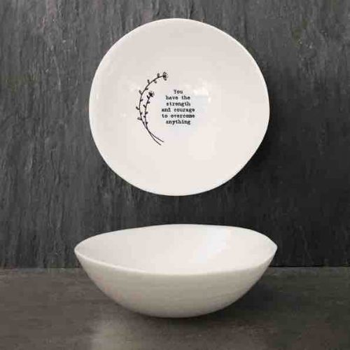 East of India 'Strength and Courage' Medium Hedgerow Bowl