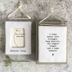 East of India 'Sweetest Thing' Porcelain Hanging Frame
