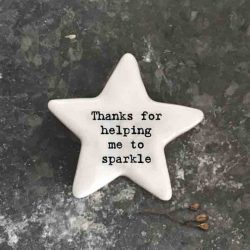East of India 'Thanks For Helping Me' Porcelain Star Token