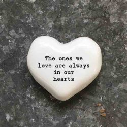 East of India 'The Ones We Love' Porcelain Heart Token