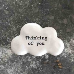 East of India 'Thinking of You' Porcelain Cloud Token