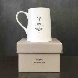 East of India 'Wherever You Go' Porcelain Mug Box