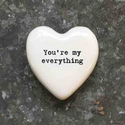East of India 'You're My Everything' Porcelain Heart Token