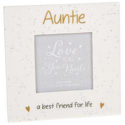Glitter Words Frame Auntie