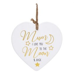 Golden Sentiments Ceramic Heart Mum