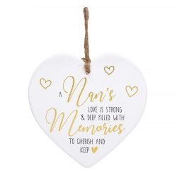 Golden Sentiments Ceramic Heart Nan