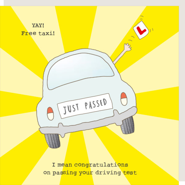 Rosie Made a Thing Card – Driving Test