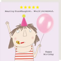 Rosie Made a Thing Card - Five Star Granddaughter
