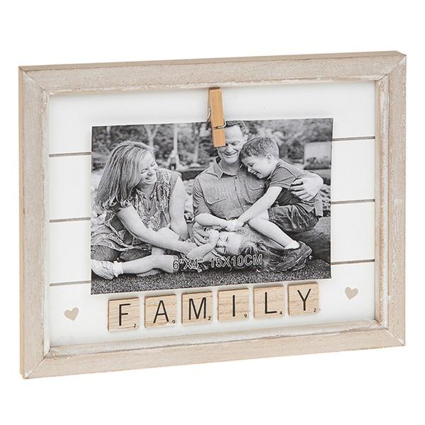 Scrabble Peg Frame 6×4 Family