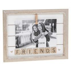 Scrabble Peg Frame 6x4 Friends
