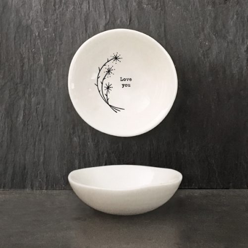 East of India Small Porcelain Bowl - Love You