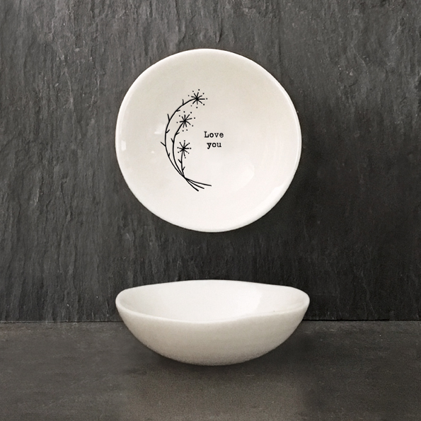 East of India Small Porcelain Bowl – Love You