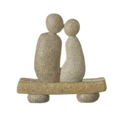 Stone Couple On Bench
