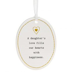 Thoughtful Words Oval Daughter
