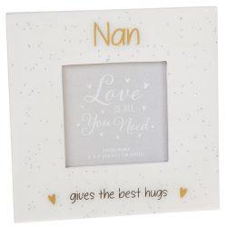 Glitter Words Frame 3x3 Nan