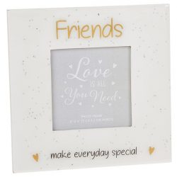 Glitter Words Frame 3x3 Friends