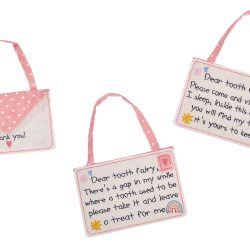 Tooth Fairy Envelope in Pink