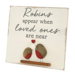 Robin Pebble Plaque