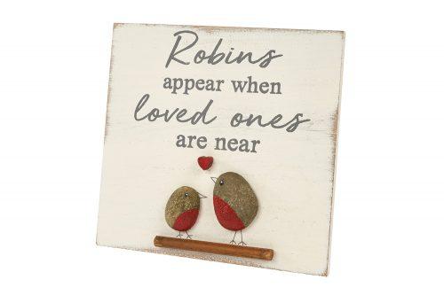 Robin Pebble Plaque