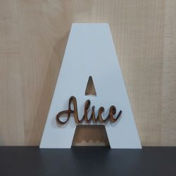 Personalised White Wooden Alphabet Letter & Name